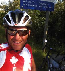 DiBattista on the road last summer.
