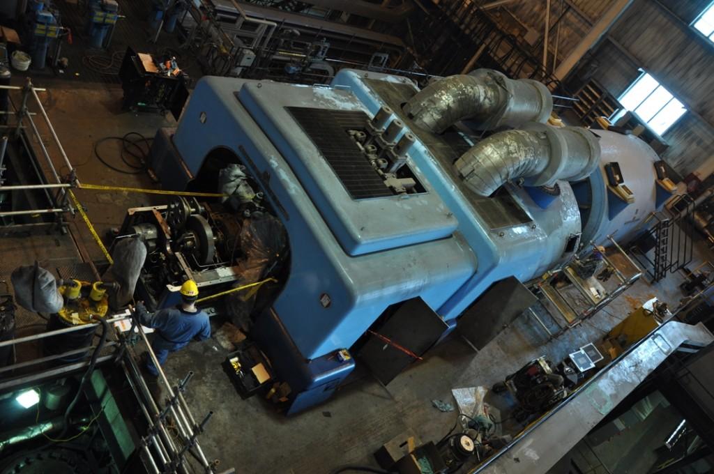 Boundary Dam Power Station Unit 3 during maintenance last winter. Image courtesy SaskPower.