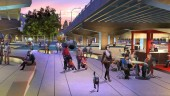 Rendering of Underpass Park in the West Don Lands, Toronto.  Image courtesy Waterfront Toronto (Phillips Farevaag Smallenberg).