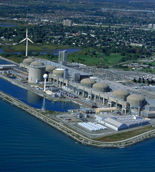Ontario Power Generation's Pickering Nuclear Power Station on Lake Ontario.