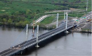 A25 Bridge over Riviere des Prairies in Montreal.