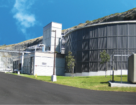 The treatment plant had to be carved out of rock, requiring 800,000 cubic metres of material to be excavated.