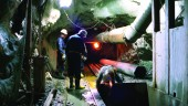 Digging the South End Sewage Rock Tunnel in Sudbury, Ontario. Photo courtesy R.V. Anderson Associates.