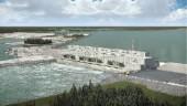 Artist's rendering of Keeyask Hydroelectric Station in Manitoba.
