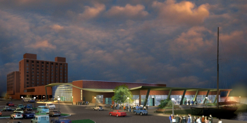 Artist's rendering of new Prince Edward Island Convention Centre.