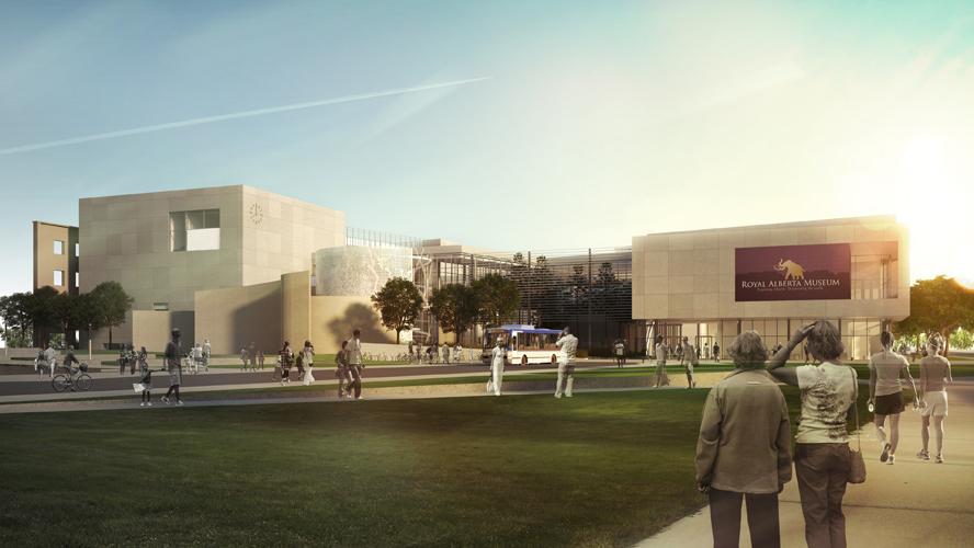 Artist's rendering of new Royal Alberta Museum in Edmonton.