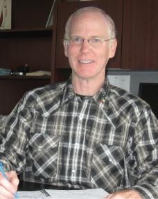 Peter Halsall in his Toronto office.
