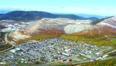 Town of Murdochville with the Gaspe Mine in the background.