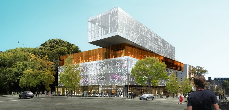 Architectural rendering of Halifax Central Library. (Fowler Bauld & Mitchell Architects)