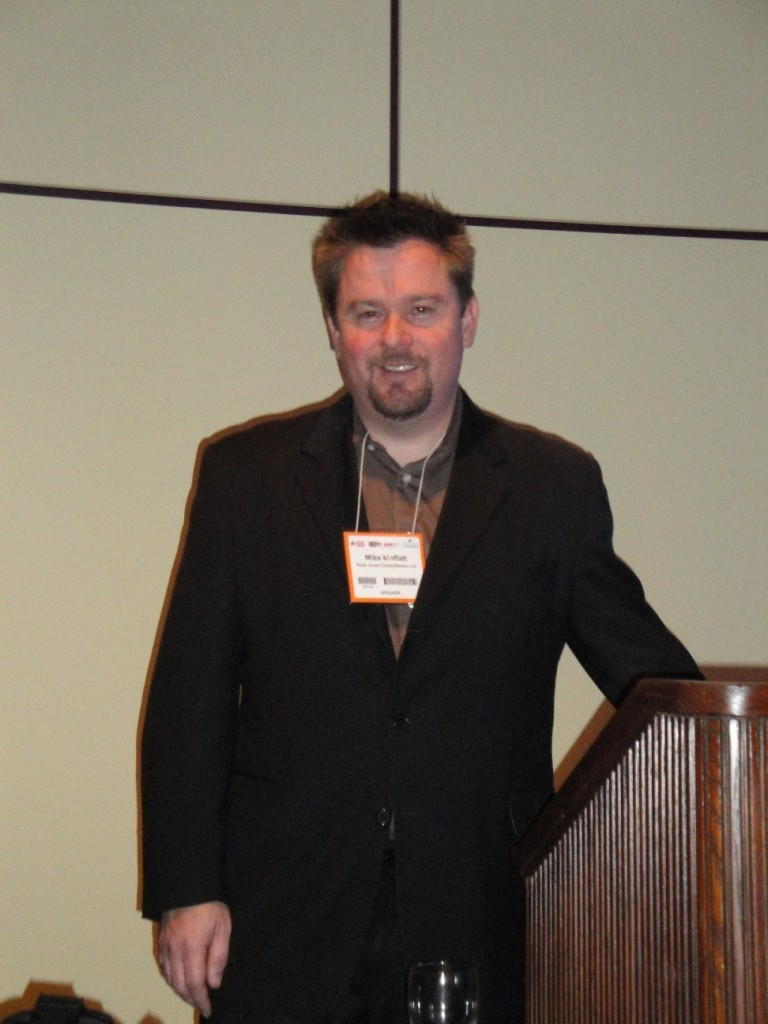 Mike Moffatt speaking at Construct Canada in Toronto in December. Canadian Consulting Engineer magazine was a sponsor of the event.
