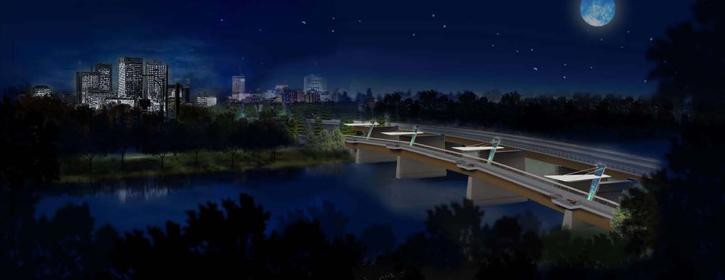 New Disraeli Bridges, a project by Plenary Roads Winnipeg.