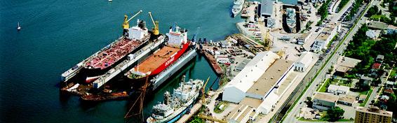 Irving Shipyards in Halifax.