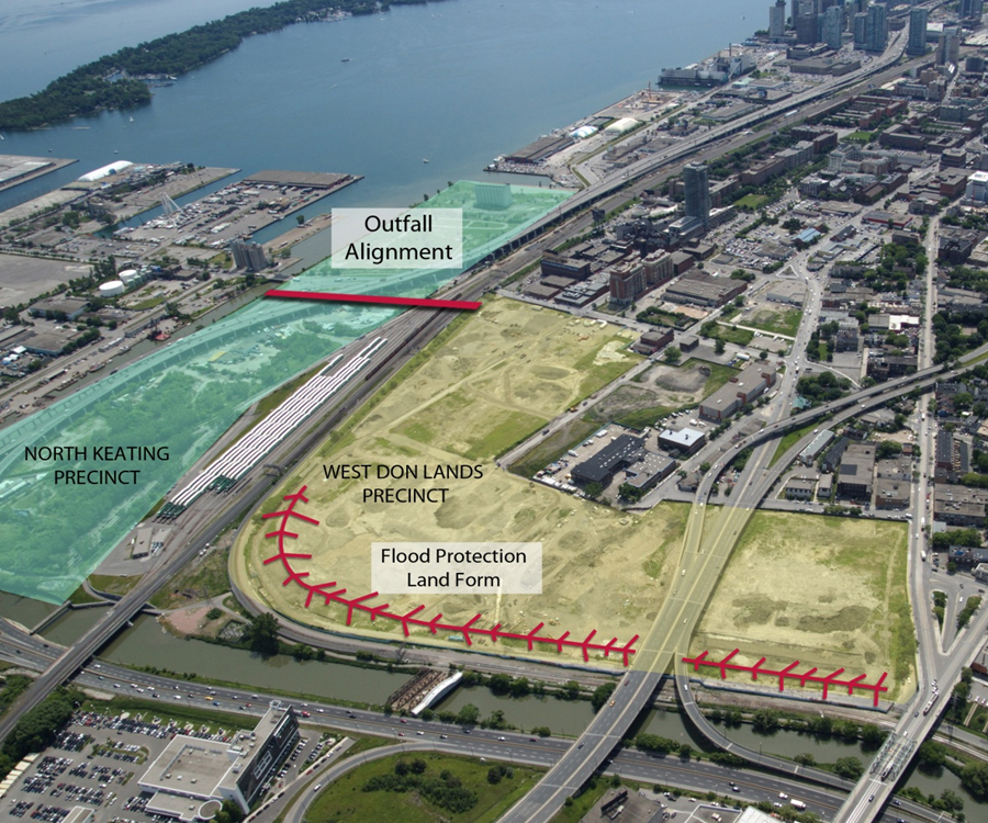 West Don Lands area on Toronto's waterfront.