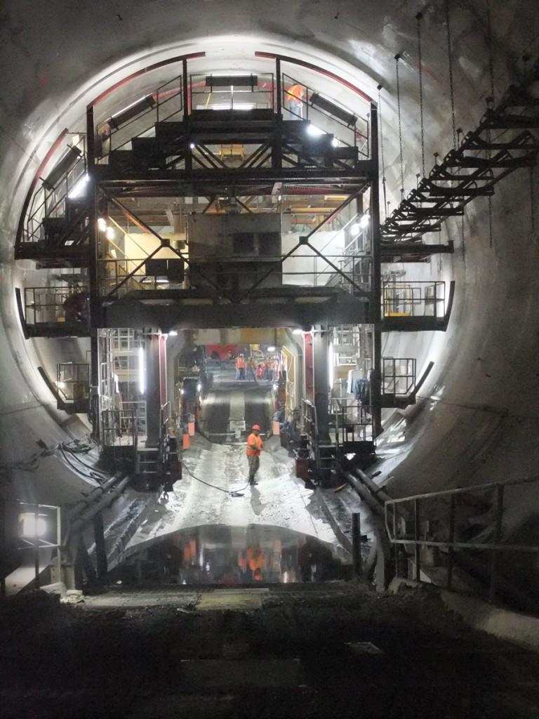 Inside the Niagara Tunnel. Photo courtesy Ontario Power Generation.
