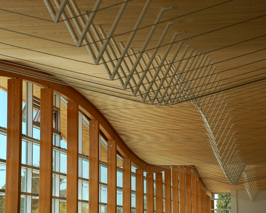 Roof detail, Samuel Brighouse Elementary School, Richmond, B.C.  Fast + Epp, structural engineers.
