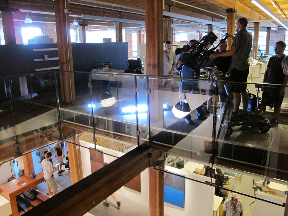 """Filming """"The Firm"""" at Stantec's office in downtown Toronto."""