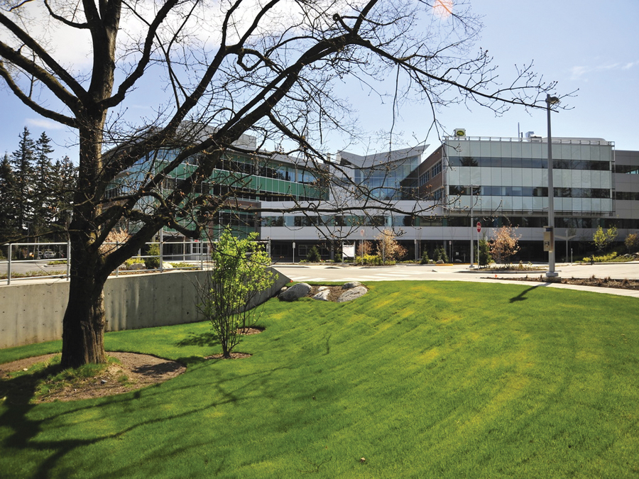 The 60,000-sq. m Abbotsford hospital is LEED Gold.