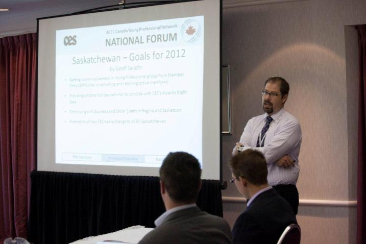 Young Professionals at the ACEC Summit in Prince Edward Island on June 22. Photo courtesy ACEC/AFIC