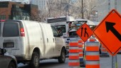 Road repairs are an all-too common site in Montreal.