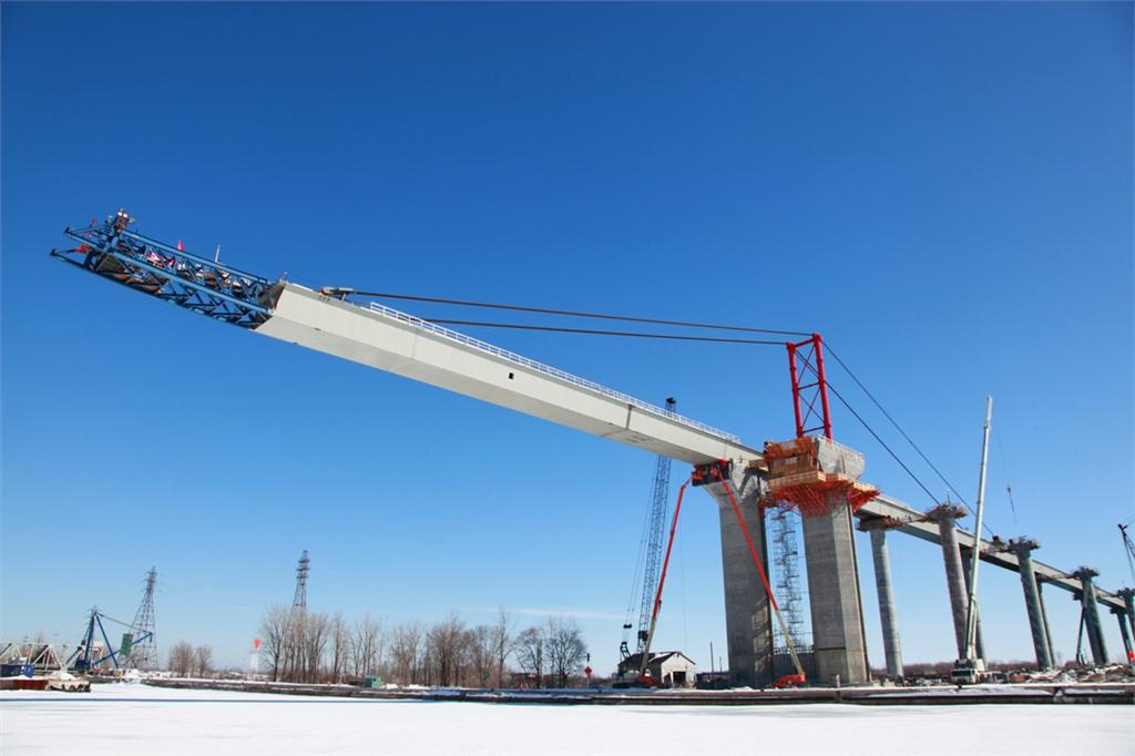 Beauharnois Bridge under construction.