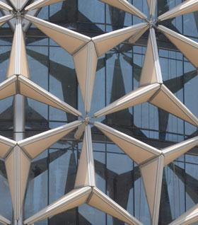 Images of the screening system of the Al Bahar Towers in Abu Dhabi, Aedas Architects.