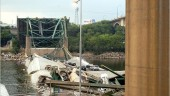Official Minnesota Department of Transportation investigation photo of the I-35W bridge collapse in Minneapolis, taken Aug. 3, 2007.  From ASCE website.