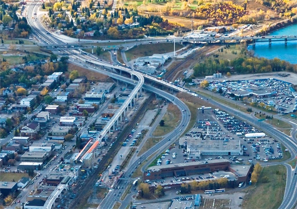 Calgary West LRT extension.