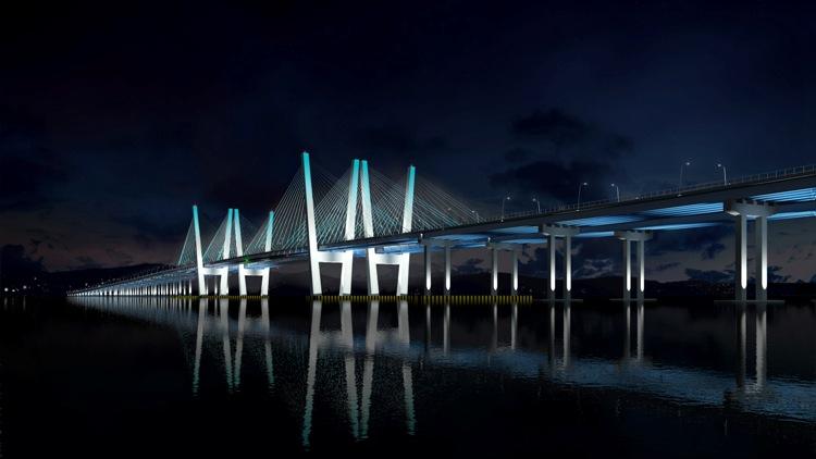 Rendering of Tappan Zee Bridge, New York State. Image: Tappan Zee Constructors/HDR Engineering.