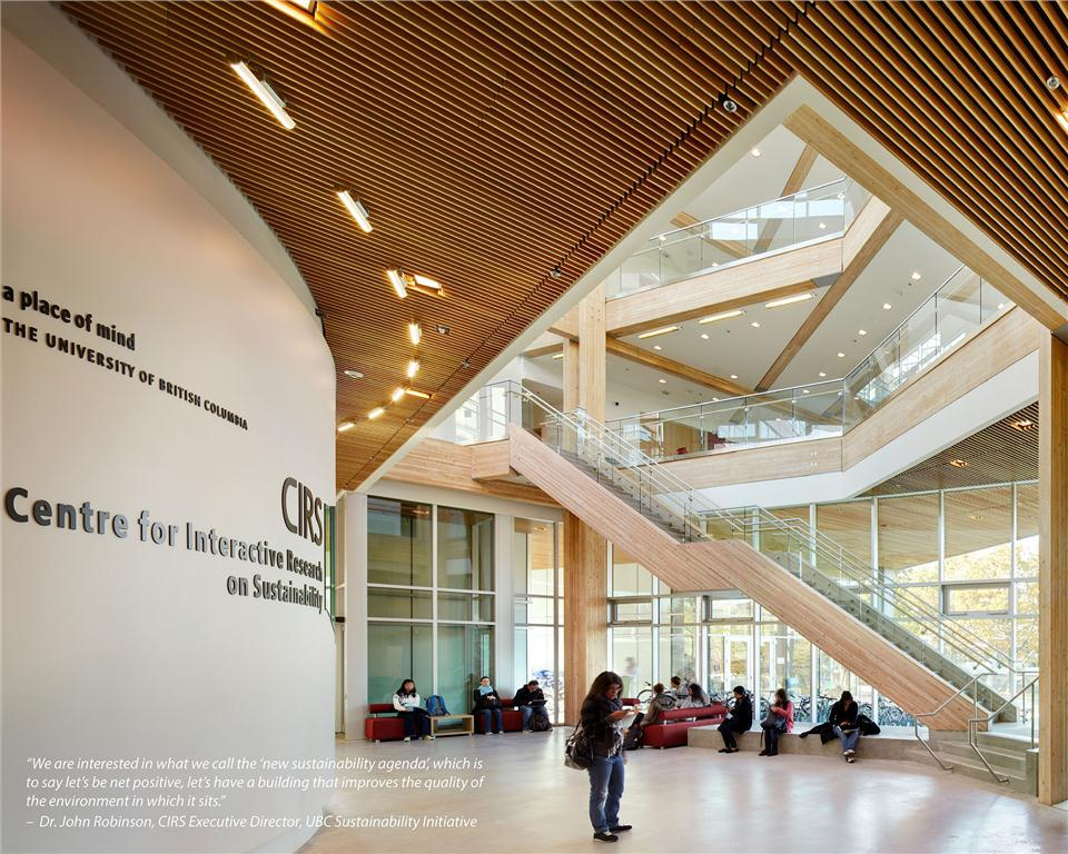 Centre for Interactive Research on Sustainability (CIRS) at the University of British Columbia, Perkins + Will architects.