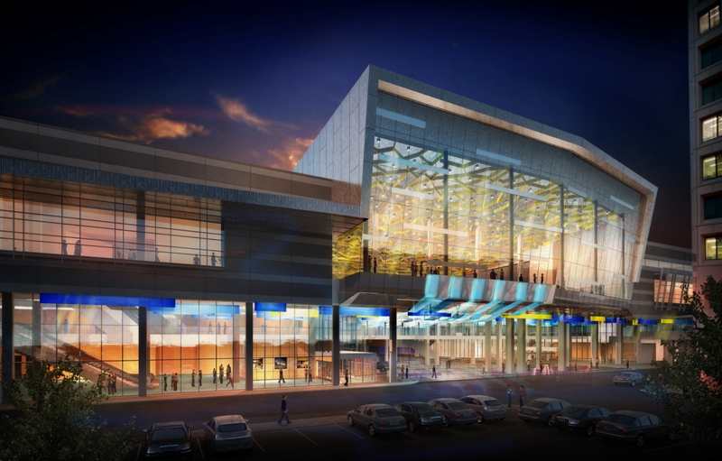 Architectural rendering of the Winnipeg Convention Centre addition due to start construction this spring. (Image: Number TEN Architectural Group/LM Architectural Group).