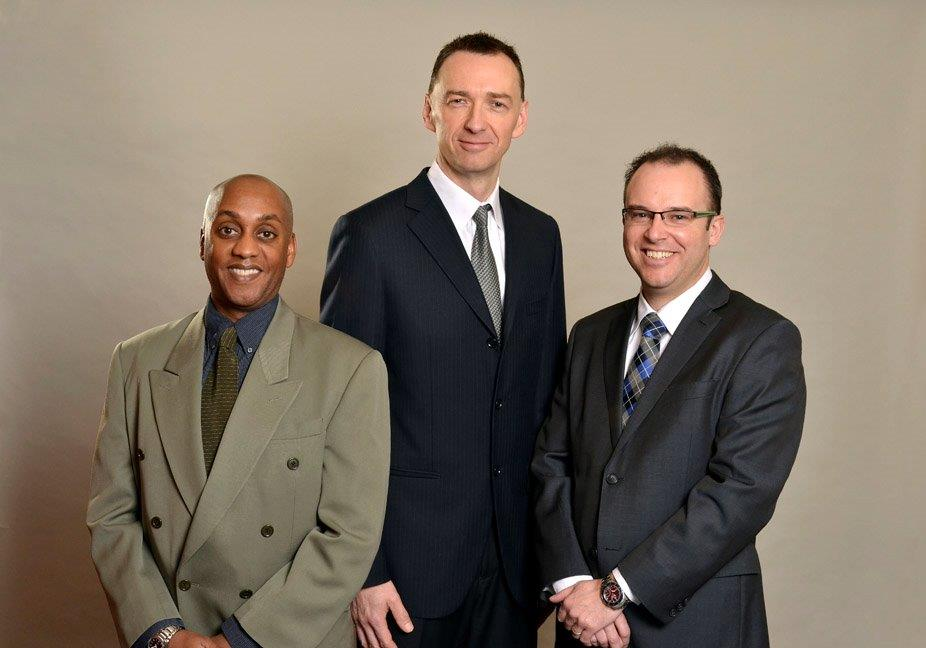New principals at SMS Engineering in Winnipeg, (left to right):  Stirling Walker; Peter Gryc and Chris Hewitt.