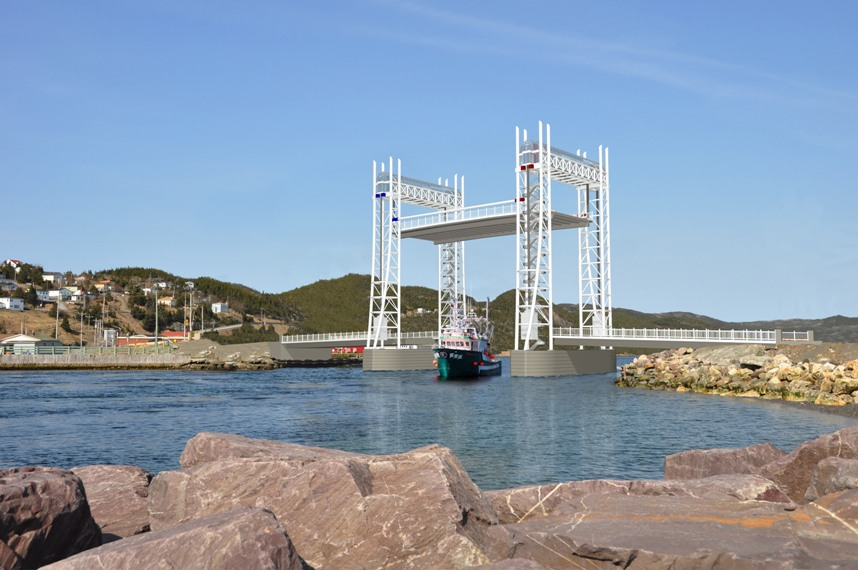 Artist's rendition of the new lift bridge in Placentia, Newfoundland.