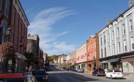 Street in picturesque Port Hope, southern Ontario.