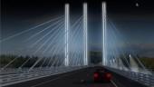 Nipigon Bridge, Thunder Bay, Ontario's first cable-stayed bridge, has started construction. Image courtesy Ontario Ministry of Transportation.