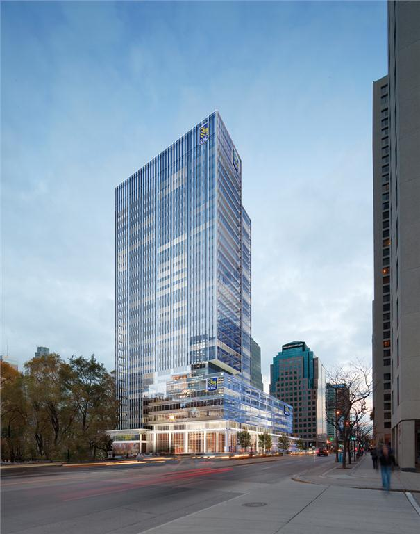 RBC Waterpark Place under construction in Toronto (artist's rendering).