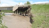 Garrington Bridge on Highway 587 in Alberta, washed out after June 20-22 flooding.