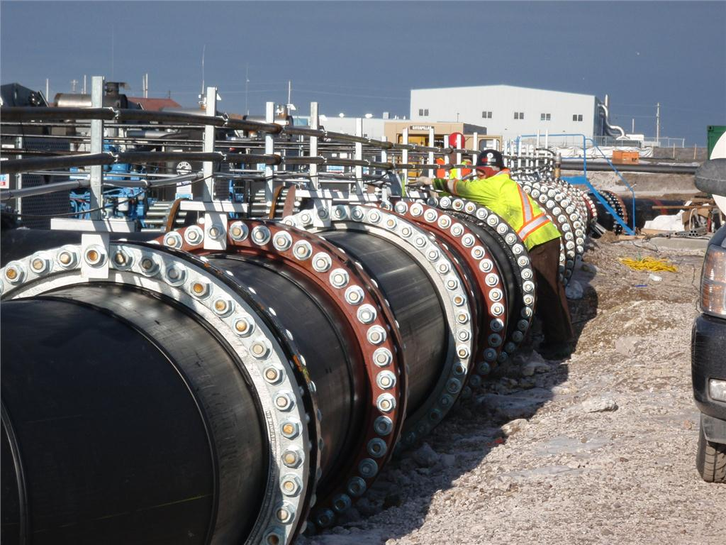 Pipes measuring 4-feet diameter in a pumping system that worked round the clock at the Sydney Tar Ponds and Coke Oven Sites remediation in Nova Scotia. The project by AECOM and CBCL won the Tree for Life Award in the 2013 Canadian Consulting Engineering Awrds.