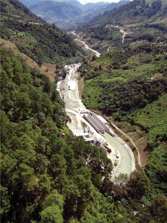 Palo Viejo Hydroelectric Plant, Guatemala.