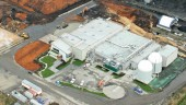Aerial view of the Harvest Energy Garden plant in Richmond, B.C. It is designed so that waste handling is completely enclosed and the digestion processes are sealed.