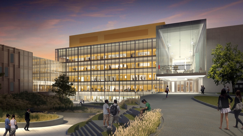 Architectural rendering of Schulich Scool of Engineering, University of Calgary.