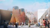 """Hy-Fi,"" a completely biodegradable tower will be temporarily installed at the Museum of Modern Art PS1 in Queens, New York, in late June."