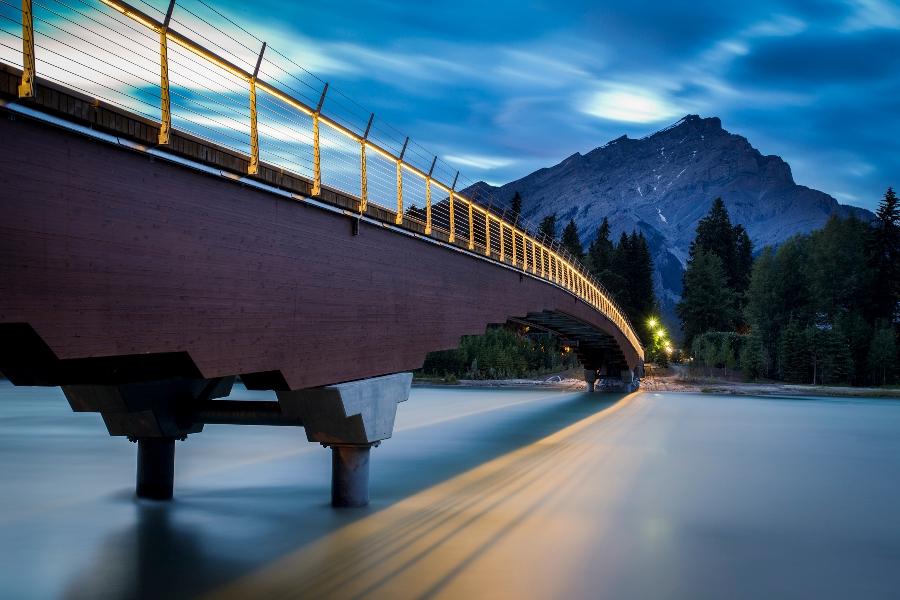 Bow River Bridge, Banff, Alberta, designed by Fast + Epp.