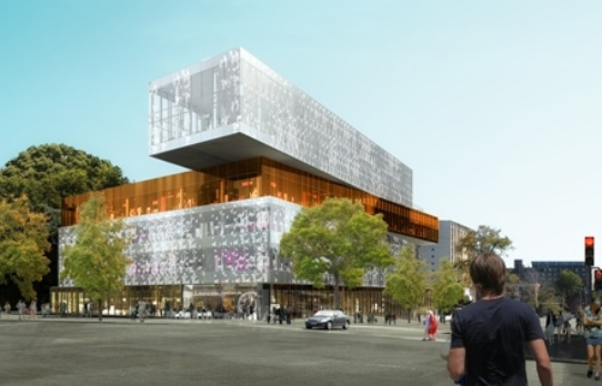 Halifax Central Library, architectural rendering. Courtesy Fowler Bauld & Mitchell architects.