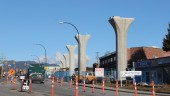 Columns for the elevated guideway on Clarke Road in Burquitlam. Photo courtesy Govt. of British Columbia