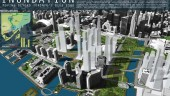 """Dillon Consulting's winning scheme """"Inundation"""" for pushing waterways north to Front Street in Toronto in the Urban Ideas Competition."""