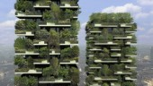 Bosco Verticale in the Porta Nuova complex in Milan, Italy.  Designed by Boeri Studio.