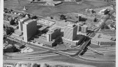 Aerial photograph of the completed Scotia Square complex and Cogswell Street Interchange., 1970. HRM Archives photo 102-105-1.36