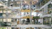 Genzyme Center, Cambridge, designed by Behnisch Architekten. Photo by Anton Grassl.