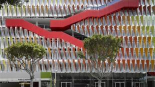 City of Santa Monica Parking Structure #6, designed by Behnisch Architekten. Photo by David Matthiessen.