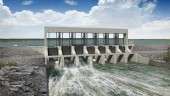 Rendering of spillway at Keeyask Generating Station, located on the Lower Nelson River, 180 kilometres northwest of Thompson, Manitoba.